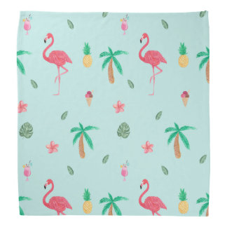 Tropical Summer Turquoise Pattern Bandana