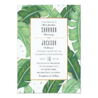 Tropical Summer Wedding Invitation