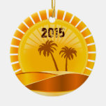 Tropical Sunburst Beach Personalised Ornament