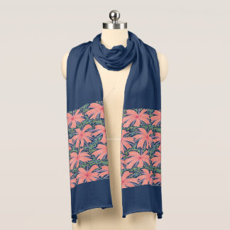 Tropical Sunburst Floral Scarf