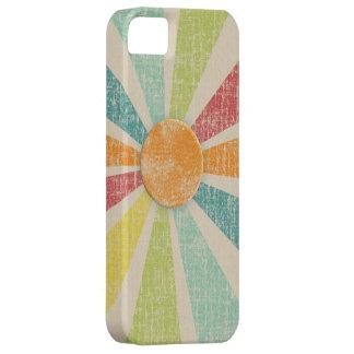 Tropical Sunburst Tangerine Distressed iPhone 5 Cover