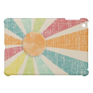 Tropical Sunburst Tangerine Distressed iPad Mini Covers