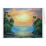 Tropical Sunny Beach Greeting Card