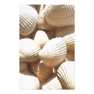 Tropical Sunny Exotic Sea Shells Custom Stationery