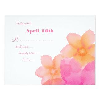 Tropical Sunrise Floral Wedding RSVP 11 Cm X 14 Cm Invitation Card