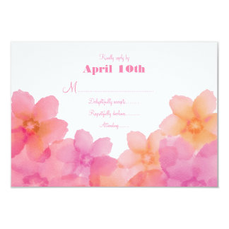 Tropical Sunrise Floral Wedding RSVP 9 Cm X 13 Cm Invitation Card