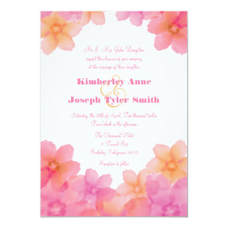 "Tropical Sunrise Wedding 5"" x 7"" Invitations"
