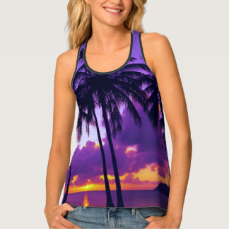 Tropical Sunset 3 Women's All-Over Print Tank Top