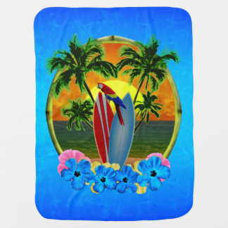 Tropical Sunset Baby Blanket