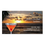 Tropical Sunset Beach Cocktail Bartender Pack Of Standard Business Cards