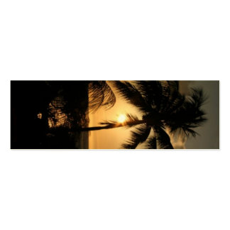 Tropical Sunset bookmark Pack Of Skinny Business Cards