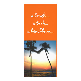 Tropical Sunset bookmark Rack Card