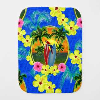 Tropical Sunset Burp Cloth