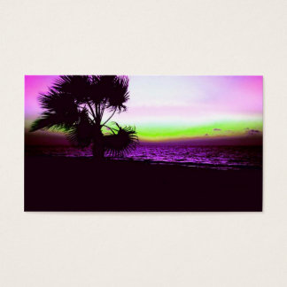 Tropical Sunset Business Card