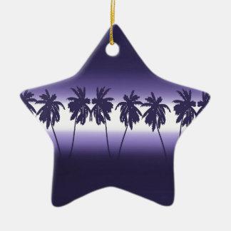 Tropical sunset ceramic star decoration