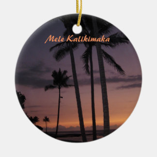 Tropical Sunset Christmas Christmas Ornament