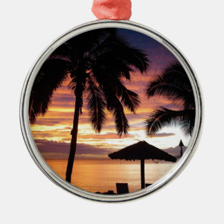 Tropical Sunset Christmas Ornament