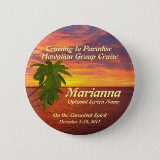 Tropical Sunset Cruise Name Badge