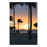 Tropical Sunset Customized Stationery