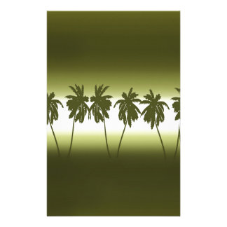 Tropical sunset customized stationery