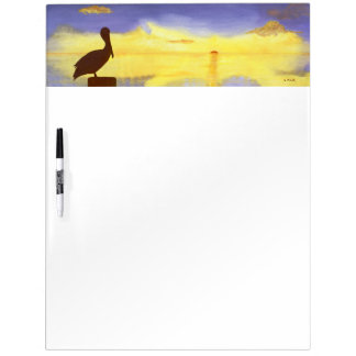 Tropical Sunset Dry Erase Board