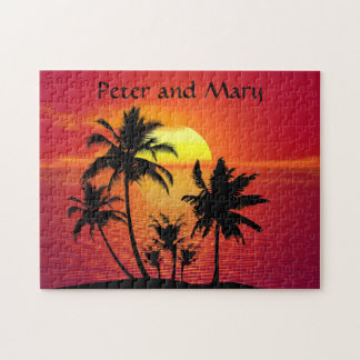 Tropical Sunset Jigsaw Puzzle