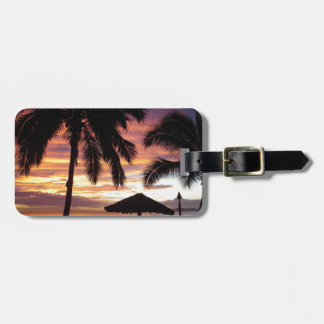 Tropical Sunset Luggage Tag