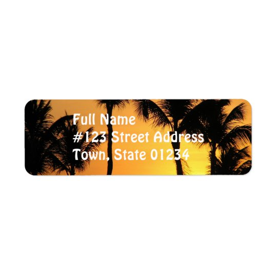 Tropical Sunset Mailing Label Return Address Label