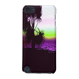 Tropical Sunset of Beach & Trees in Purple iPod Touch (5th Generation) Case