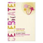 Tropical Sunset Palm Trees Beach Wedding Reception Custom Announcements