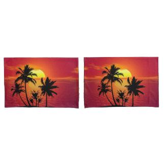 Tropical Sunset Pillowcase