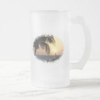 Tropical Sunset Sail Beer Mug