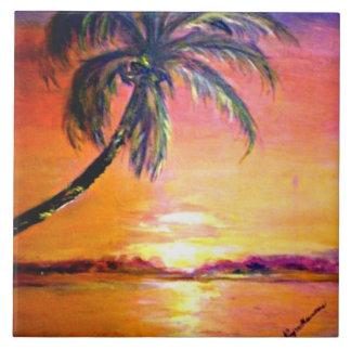 Tropical Sunset Tile