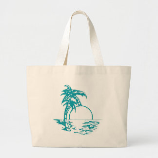 Tropical Sunset Wedding Canvas Bags