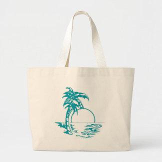 Tropical Sunset Wedding Jumbo Tote Bag