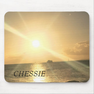 Tropical  Sunset with Beautiful Colours Mouse Mat