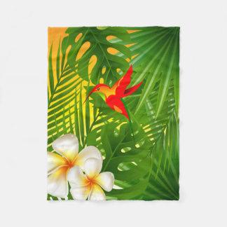 Tropical Sunshine with a Hummingbird Fleece Blanket