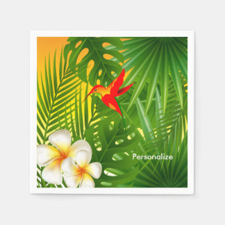 Tropical Sunshine with a Hummingbird Paper Serviettes