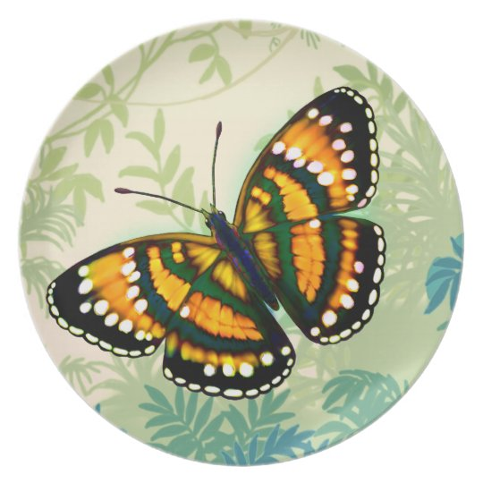 Tropical Sunshine Yellow Butterfly Plate