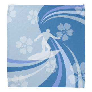 Tropical Surf Blue Head Kerchief