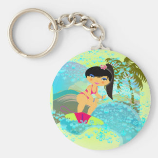 Tropical Surf Keychain