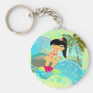 Tropical Surf Keychain