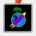 Tropical Surfer.png Christmas Ornaments