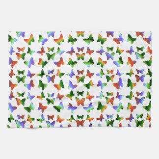 Tropical Swirl Butterfly Pattern Tea Towel