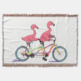 Tropical Tandem Flamingoes