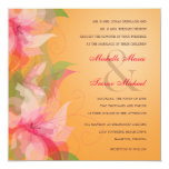 Tropical Tangerine & Fuschia Wedding Invitations
