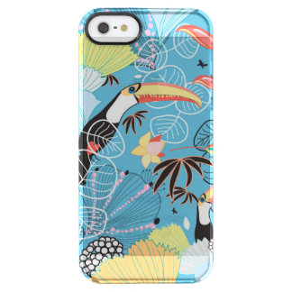 Tropical Texture With Toucans and Hummingbirds Clear iPhone SE/5/5s Case