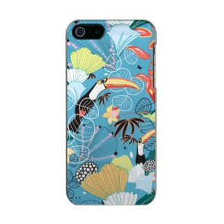 Tropical Texture With Toucans and Hummingbirds Incipio Feather® Shine iPhone 5 Case