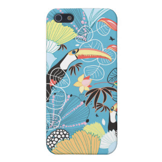Tropical Texture With Toucans and Hummingbirds iPhone 5/5S Case