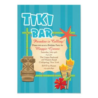 Tropical Tiki Bar Invitation